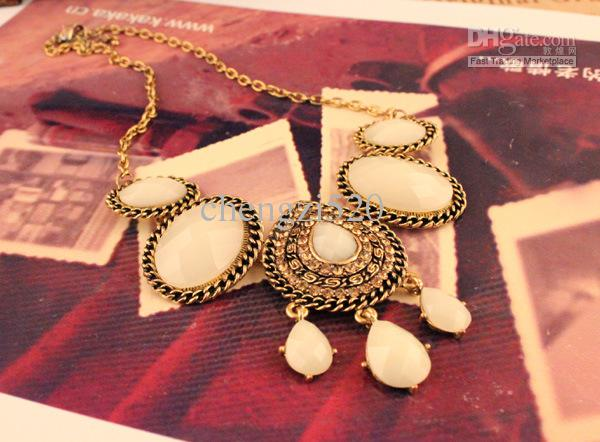 Juwel-Wasser-Tröpfchen personifizierte Diamant-Halsketten