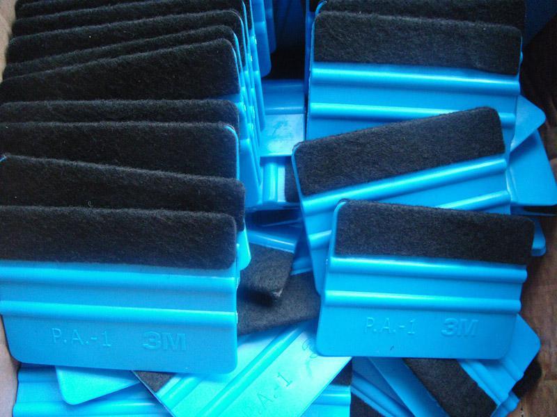 raspadores de carro de plástico tomar raspador de pano ferramenta Paster 100 pcs por lote