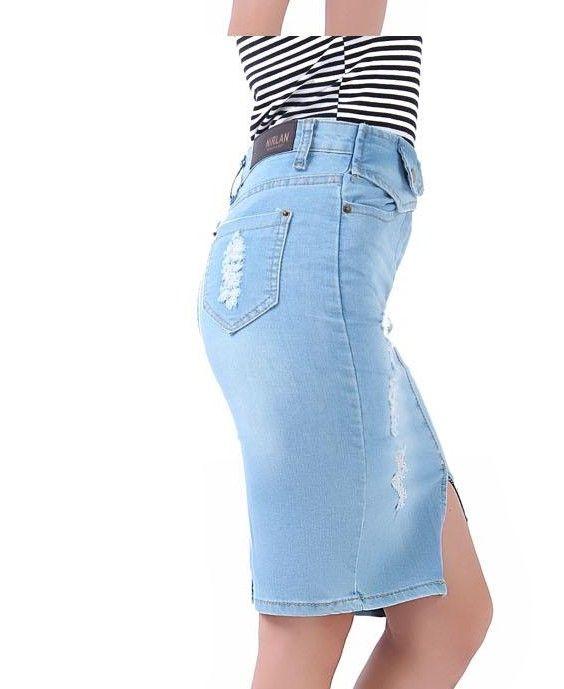 2017 Top Fashion Spring Autumn Women Denim Jean Casual Tight Skirt ...