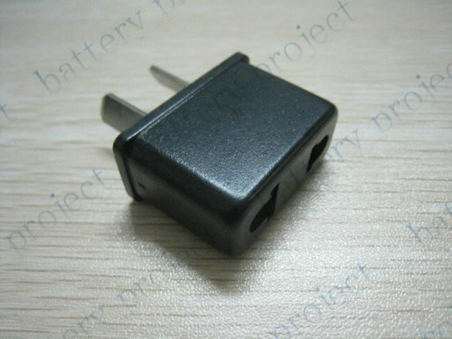 AC電源プラグコンバータトラベルアダプタアウトレットコンバータブラック1000ピース/ロットへのEUまたはUS