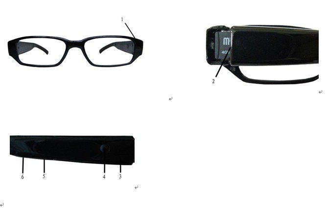 720P High Definition Glasses Camera Video Take Picture Support Max To32GB,5pcs Free EMS