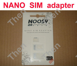 Wholesale 5s Micro Sim Adapter - 3 in 1 Nano Micro Sim Card Adapter , Noosy sim adapter white for iPhone 5 5S 5C (1500pcs) 500sets