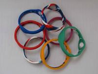 Wholesale Teams Energy Bracelet - 100pcs Basketball Teams Sports Silicone Energy Wristbands Men Women Energy Power Band Bracelet