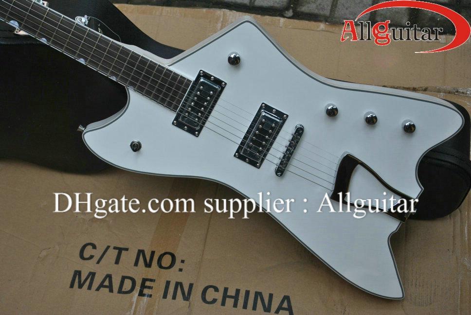 맞춤 제작 G6199 빌리 보 목성 썬더 버드 화이트 일렉트릭 기타