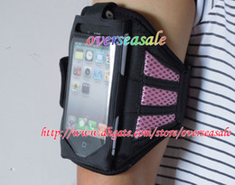 Wholesale Cool Apple Skins - Sport Sports Running GYM Armband Arm band Belt Pouch Mesh cool case soft Cloth skin protector cases for iphone 4G 4S 5 5G & 5S 5C 100PCS