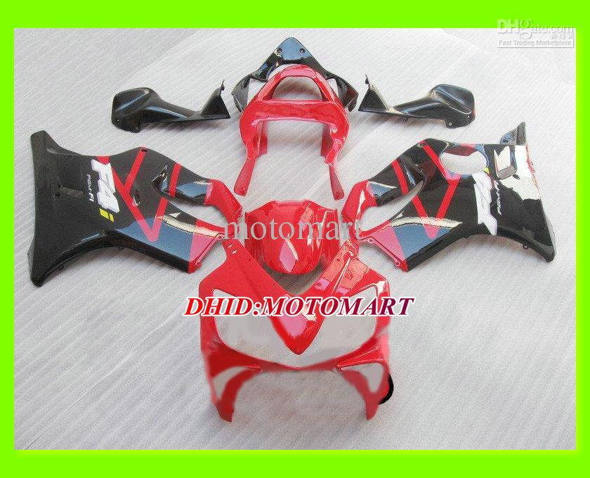 HONDA CBR600F4I CBR600 için özel Motosiklet Fairing kiti F4I 2001 2002 2003 CBR 600 F4I 01 02 03 Kırmızı balck kaporta seti