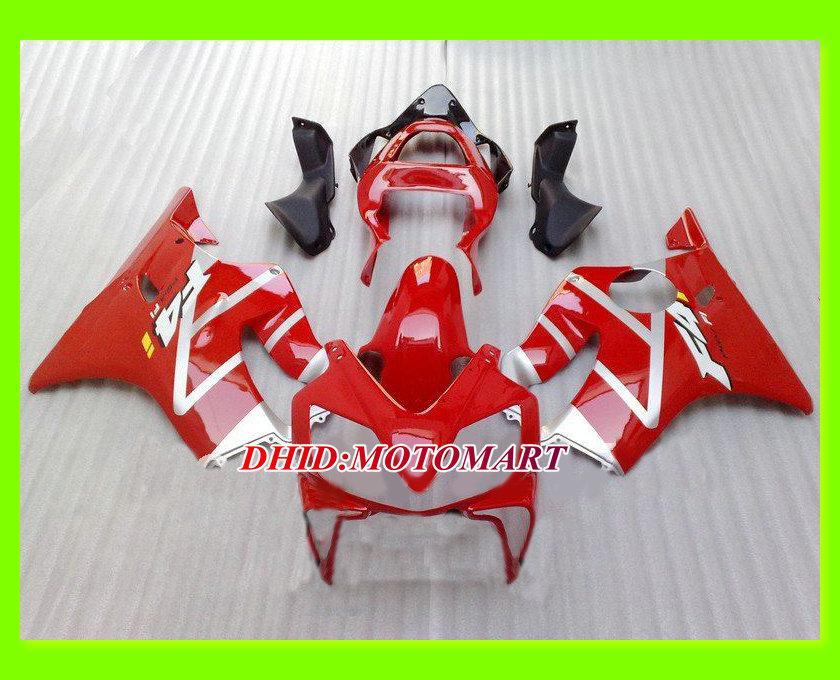 Red Fairing Kits för Honda CBR600F4I 01-03 CBR600 F4I 2001 2002 2003 CBR 600 F4I 01 02 03 Injektionsformade Fairings Set