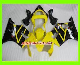 honda cbr yellow Скидка Комплект обтекателя мотоцикла для HONDA CBR600F4I 01 02 03 CBR600 F4I 2001 2002 2003 CBR 600 F4I Желтый черный обтекатель комплект