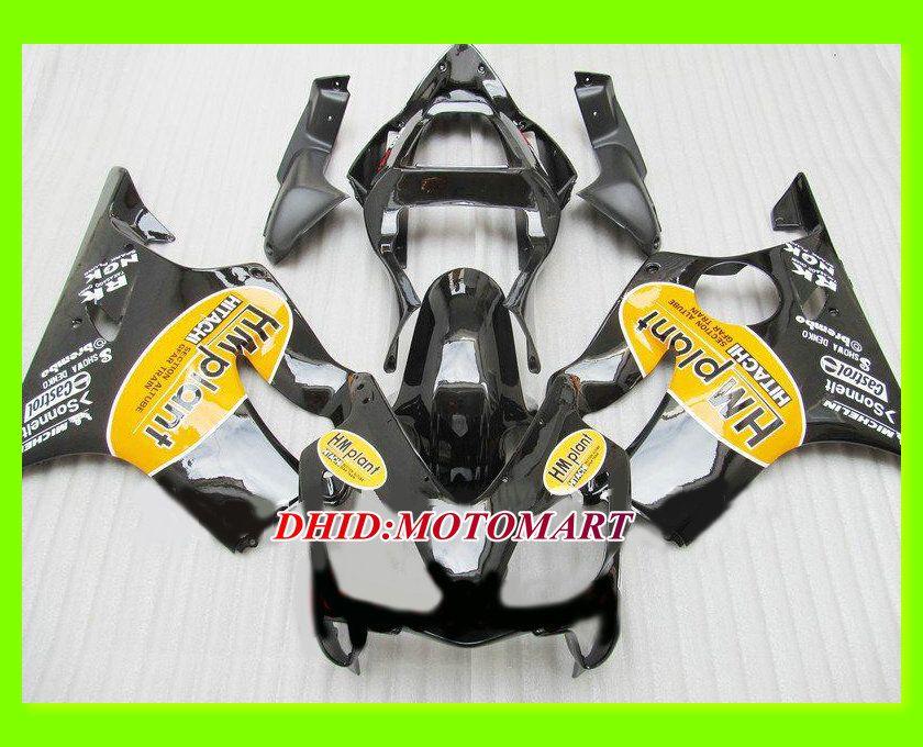 Injection mold Black Fairing kit for HONDA CBR600F4I 01 02 03 CBR600 F4I 2001 2002 2003 CBR 600 F4I Fairings set