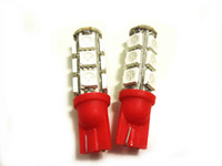 RED 2 X T10 2825 194 168 W5W CUNEO 5050 3 CHIPS LUCE 13 LED SMD LAMPADINE AMBER