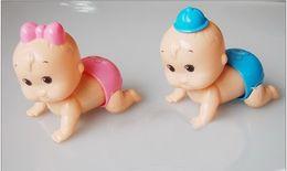 Wholesale Doll Crawls - children toys Crawling toy torsional ass doll plastic clockwork toys-42pcs lot