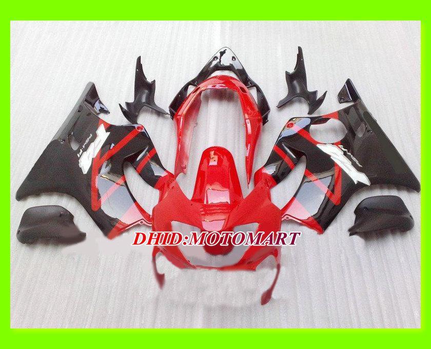 vermelho preto Kit de carenagem para HONDA CBR600F4 99 00 CBR600 F4 1999 2000 CBR 600 F4 600F4 Molde de injeção Conjunto de carenagens