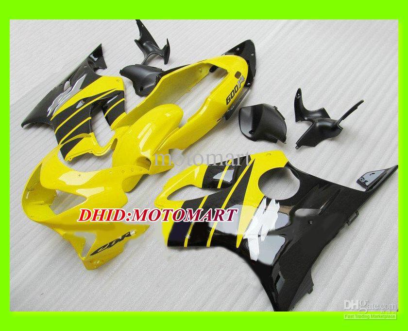 Top Yellow Black Fairing Kit för Honda CBR600F4 99 00 CBR600 F4 1999 2000 CBR 600 F4 600F4 Injektionsform