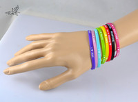 una pulsera de amor al por mayor-400 pc / lot 5 mm HOT 1D I Love One Direction pulsera pulsera de silicona Mix 8 diseño pulseras
