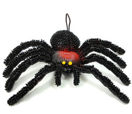 Wholesale Soft Rubber Spiders - Soft rubber animal model simulation large spider April Fool's Day Halloween trick toys peculiar gif