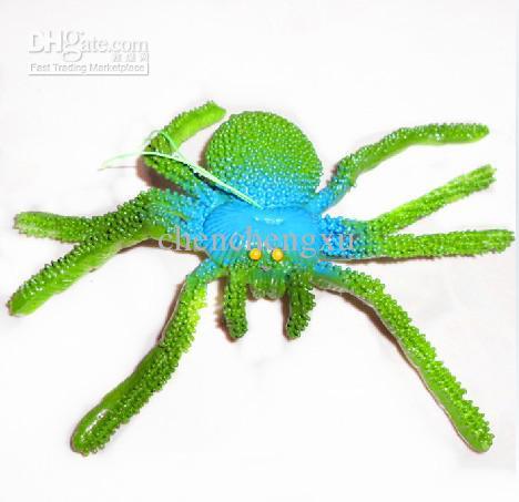 ソフトゴム動物モデルシミュレーションラージスパイダーエイプリルフールの日ハロウィーントリックおもちゃPeculiar Gif
