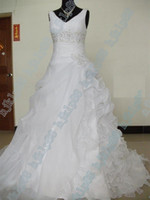Wholesale Dhgate Red Wedding Dress - Actual Images 2012 DHgate Bestsellers New Sexy Deep V Spaghetti Spring Wedding Dresses