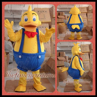 Wholesale Duck Costume Outfit Mascot - adult size The Yellow Duck mascot costume fancy dress party outfit dropshipping