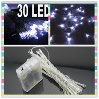 AA Battery Power 30 LED 3M Wire Bleu Rouge Couleurs Christmas String Fairy Lights Wholesale 50pcs