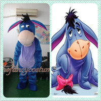 Wholesale Mascot Costumes Donkey - adult size Donkey The Eeyore mascot costume fancy dress party outfit dropshipping