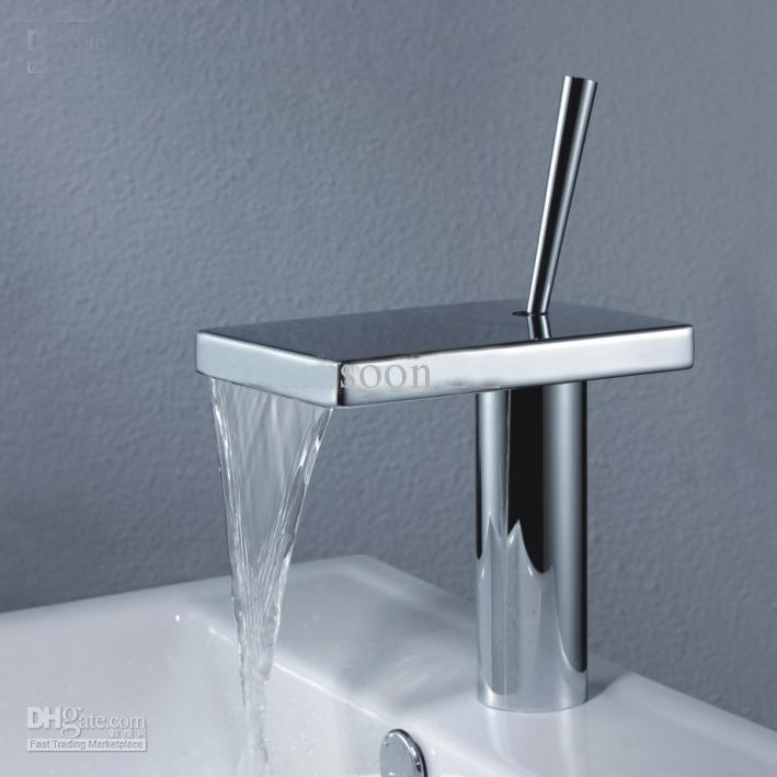 2018 Hot Sell Modern New Waterfall Bathroom Sink Faucet Tap With ...
