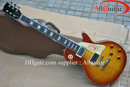 Wholesale Number Pages - custom Jimmy Page Number Two Honey burst ebony fingerboard electric guitar China Guitar