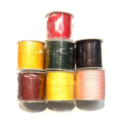 350m / Silk Multicolour Jade Cord Wire Hitta komponenter för DIY Craft Smycken Gift 0.5mm WC26