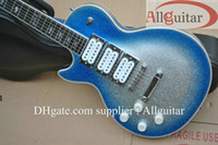 Wholesale Ace Ebony - left handed Ace frehley silveblue Bright ebony fingerboard electric guitar China Guitar