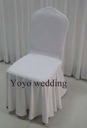 $enCountryForm.capitalKeyWord Canada - 100PCS MOQ White Color Swag Bottom Spandex Banquet Chair Cover With Free Shipping For Wedding Use