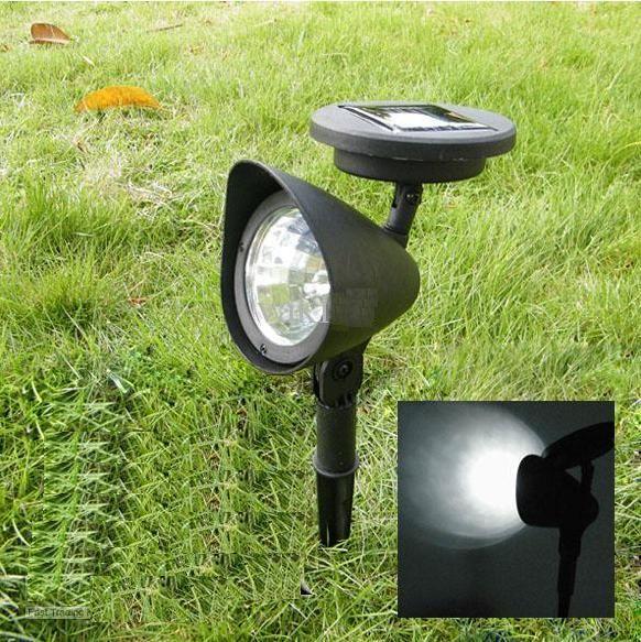 Solar Powered LED Lights Solar Powered 3 LED Bulbs Outdoor Spotlights Landscape Spot Lights Garden Lamps Lawn Lamps