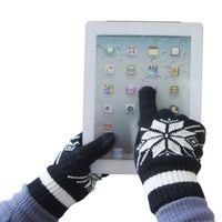 Wholesale Fiber Sensors - T06 Mens Winter Gloves Sensor Touch Knit Black $9 pair Free Shipping