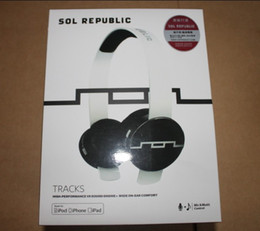 Wholesale Noise Cancelling Sol - SOL Republic Tracks with Mic high performance wide on-ear comfort for iPod iPad iPhone 40pcs DHL
