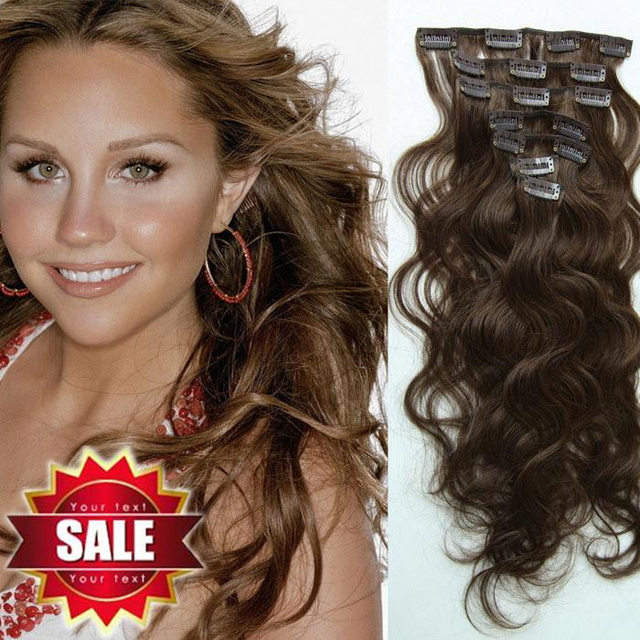 Eton Remy Clip In Human Hair Extension 15 To 24 Mix Length 4 Dark