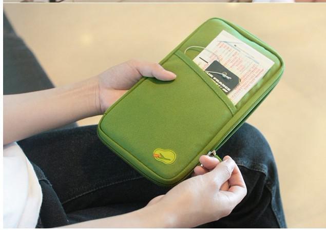 Het draagbare opslagpakket / kaartpakket / portemonnee essentiële reizen