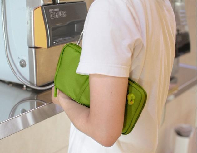 Det bärbara lagringspaketet / kortpaketet / handväskan är viktiga resor
