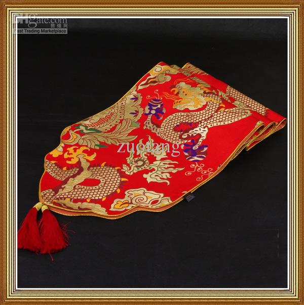 Thicken Dragon Patterns Table Runner Chinese Style High