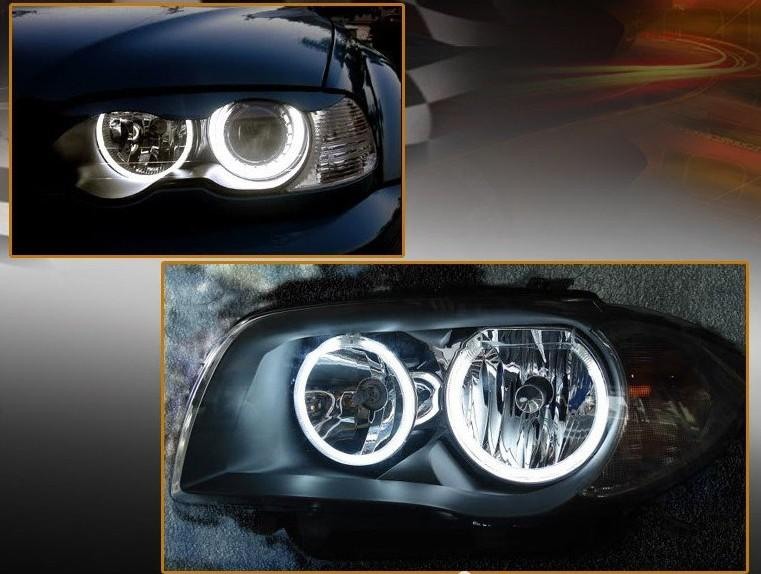 Led auto lamp CCFL car Angel eyes light kits for BMW E46 NON-Projector Fast light up in Super Cold Weather