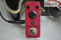 guitarra compacta al por mayor-Efectos de guitarra MOOER Ana Echo Smooth Retardo analógico Efecto de sonido Pedal compacto True bypass + Guitar Cabl