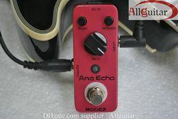 mini guitarra de efectos Rebajas Efectos de guitarra MOOER Ana Echo Smooth Retardo analógico Efecto de sonido Pedal compacto True bypass + Guitar Cabl