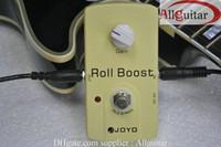 joyo overdrive venda por atacado-Roll Boost Effect pedal JOYO JF-38 Classic Um circuito, 35dB boost 18V voltagem DC + guitarra Cabl