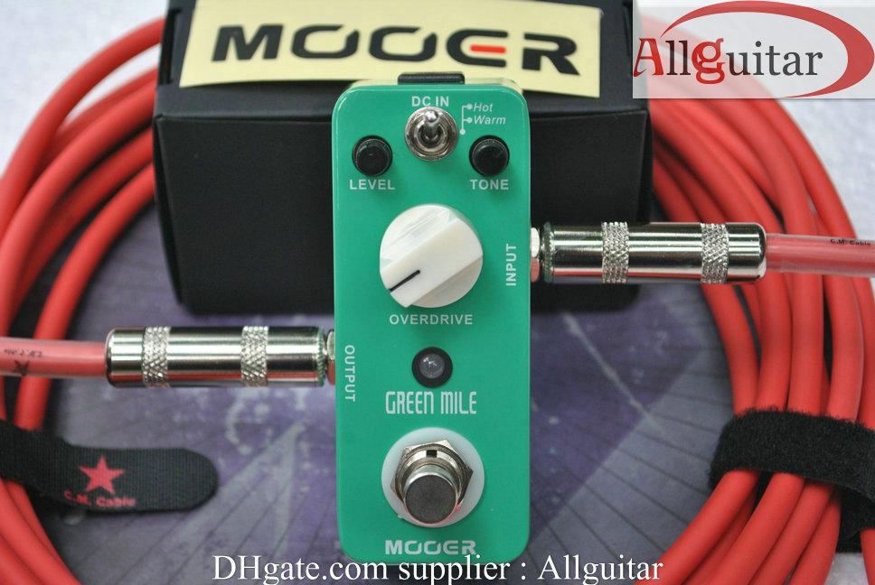 guitar Effect MOOER Green Mile Overdrive Compact Tube Screamer Sound Effect Pedal True Bypass