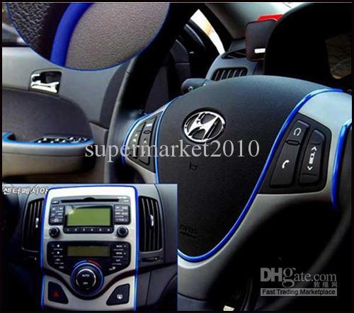 5 Metre Araba Dekorasyon Sticker Şerit Kalıp Trim Konu kapalı pater Araba İç Dış Vücut Modifiye Çıkartması Bırak Styling Sticker