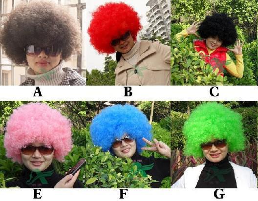 QUENTE 40 PCS * peruca de Halloween peruca de fãs de futebol Peruca de palhaço peruca de palhaço