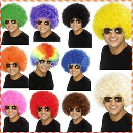 QUENTE 40 PCS * peruca de Halloween peruca de fãs de futebol Peruca de palhaço peruca de palhaço de