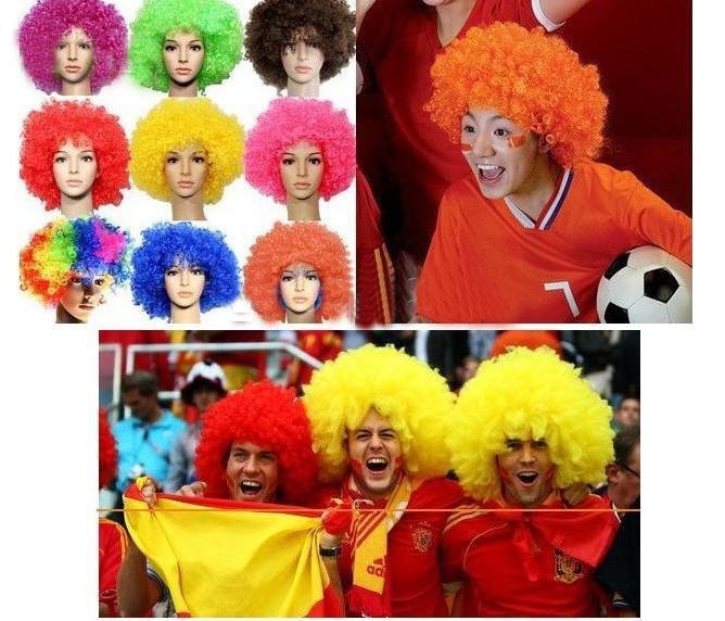 HOT 40PCS * Halloween Perücke Fußballfans Perücke Regenbogen Perücke Clown Perücke