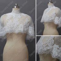 Wholesale Bridal Capelet - Vintage Capelet Beaded Bridal Jacket Bolero Wedding Wrap Capes Jackets Actual Real Images DB229