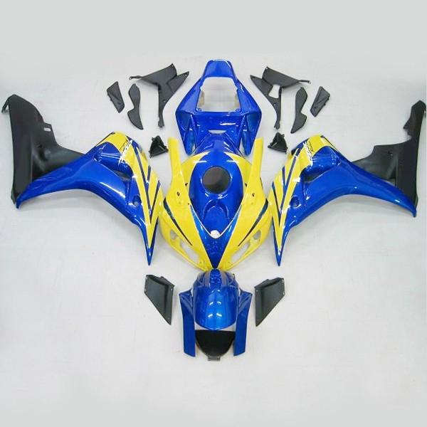 혼다 용 CBR1000RR 2006-2007 CBR 1000 RR 06 07 BlueFireblade 페어링 키트, 모터 사이클 차체