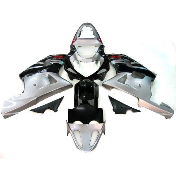 スズキGSXR 600 750フェアリングGSX-R600 R750 2000-2003 00 01 02 03スライバブラック