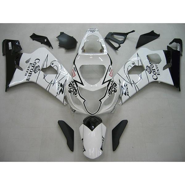 100%実際の写真、1セットモトサイクルフェアリングキット鈴木GSX-R600 R750 2004-2005 Coronaフェアリングキット