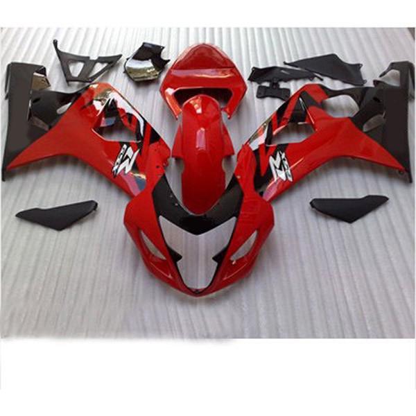 Carénage de moto haute qualité pour Suzuki GSX-R600 R750 2004-2005 R600 / 750 04 05 Carénage RED